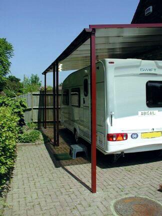 caravan carport 3m projection the canopy shop. Black Bedroom Furniture Sets. Home Design Ideas