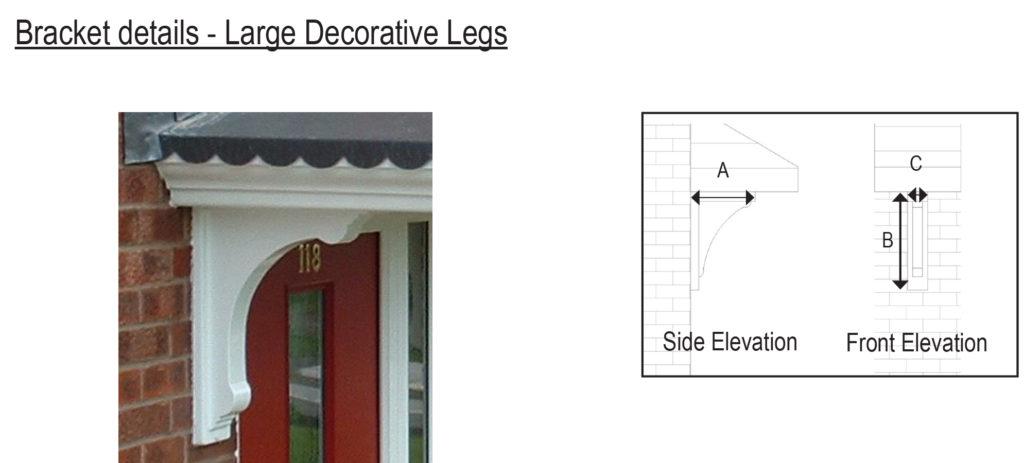Large Decorative leg brackets
