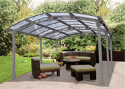 Crescent Curved Roof Canopy