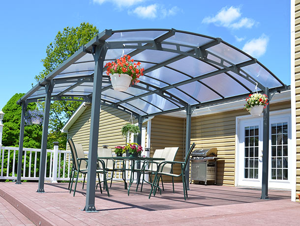 Metal Carport Curved : Crescent curved roof the canopy shop
