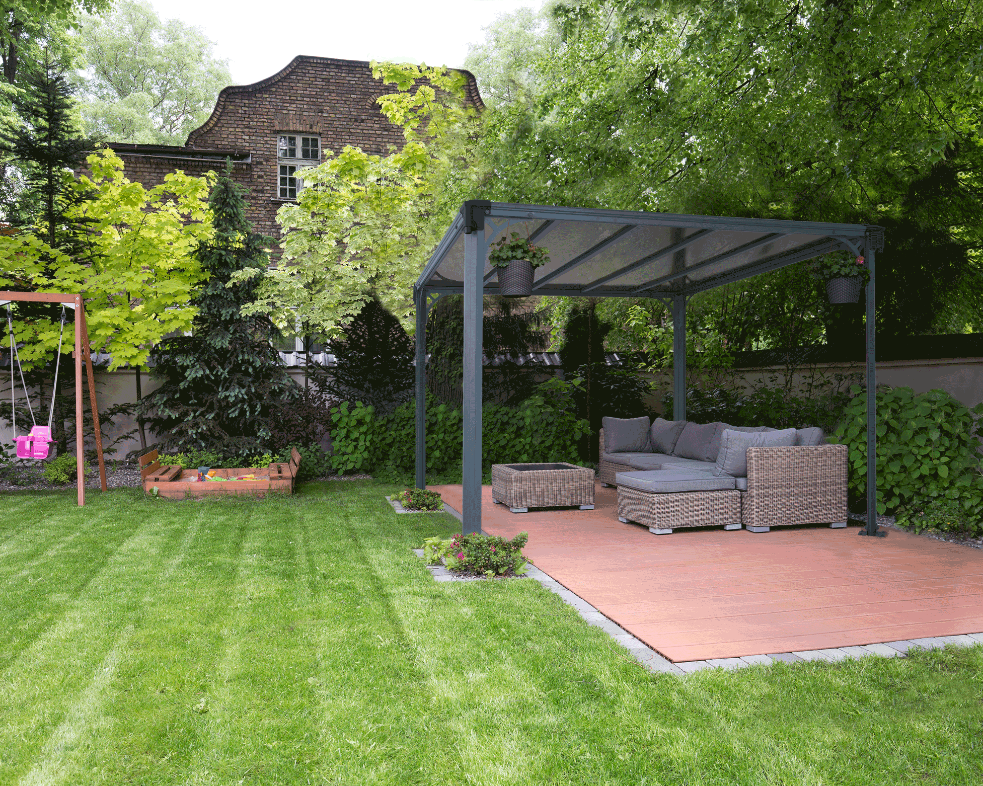 Clarendon garden gazebo the canopy shop for Backyard patio landscaping