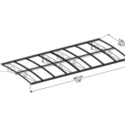 Beaumont 4470 Over Door Canopy Dimensions
