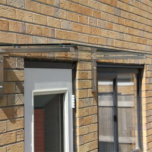 Linear Overdoor Canopy Side View