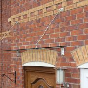 Side View of Suspended Linear Over door Canopy
